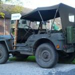 De jeep die we mogen lenen van de heer Ten Pierik van Oude Molen